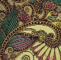 Abstract Floral 2 6 X 6 Loomed Beading Pattern By Karen Zumbrun