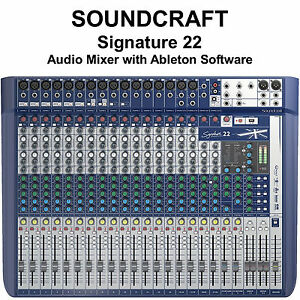 Details about SOUNDCRAFT SIGNATURE 22 FX USB Ableton Live 9 Lite Audio Mixer