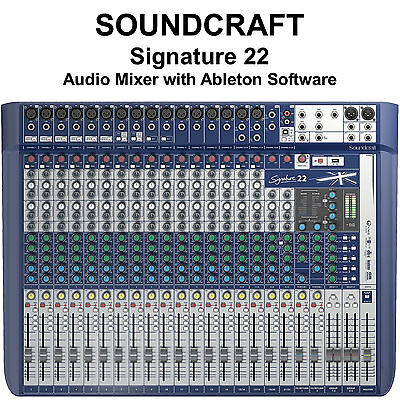 SOUNDCRAFT SIGNATURE 22 FX USB Ableton Live 9 Lite Audio Mixer 668705001212  | eBay