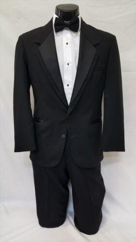 40 R Oscar de la Renta Mens Black Tuxedo Notch Jacket Prom Wedding Costume Coat