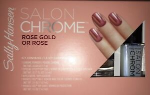 New Sally Hansen Lim Ed Salon Chrome 5PC Kit Miracle Gel ...