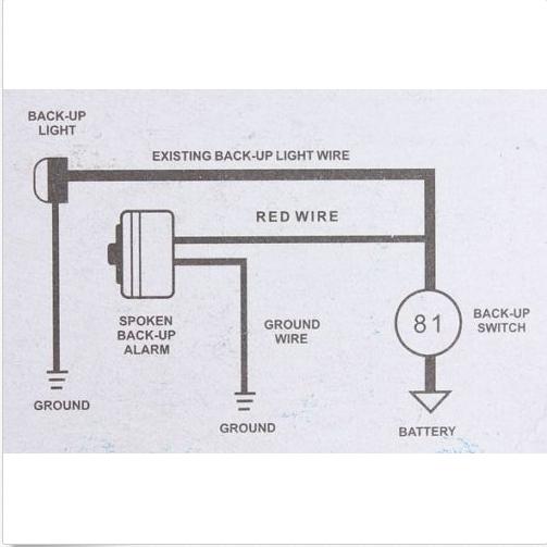 12v jet plane turbo sound back up alarm 2~wire hook up Paradox Alarm Wiring Diagrams