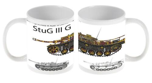 Kaffe Tasse Waffe StuG III G Panzer Keramik bedruckt