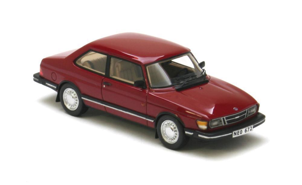 Saab 90  Dark rouge  1985 (Neo Scale 1 43   43672)