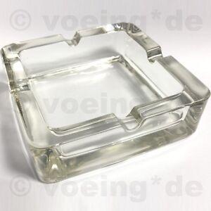 Möbel & Wohnen Sinnvoll Edler Design-aschenbecher Aus Glas Mit 4 Kerben 14x14 Cm Sehr Stabil & Stilvoll