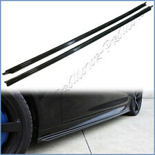 For 12-17 F10 M5 Sedan Use 3D Style Carbon Fiber Side Skirt Add-On Lip Pair Set