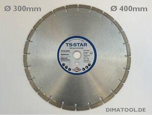 300-400mm-Cedima-TS-Star-Diamanttrennscheibe-Beton-Tischsaege-versch-Bohrungen