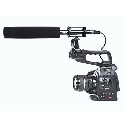 Pro BOYA BY PVM1000L Condenser Shotgun Microphone 3 Pin XLR Output on Camcorder