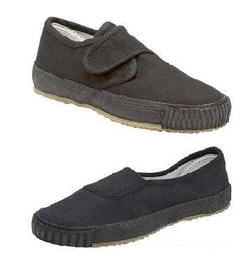 School Shoes PE Pumps Plimsolls Slip On