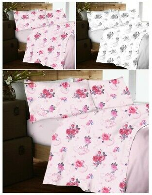 Reasonable Nancy Flannelette Brushed Cotton Sheet Set Include Fitted Flat Sheet Pillowcase Bedding