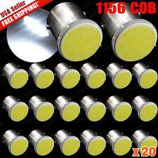 20 X High Power  White 1156 BA15S LED COB CAR RV Backup Turn Signal Lights Bulbs