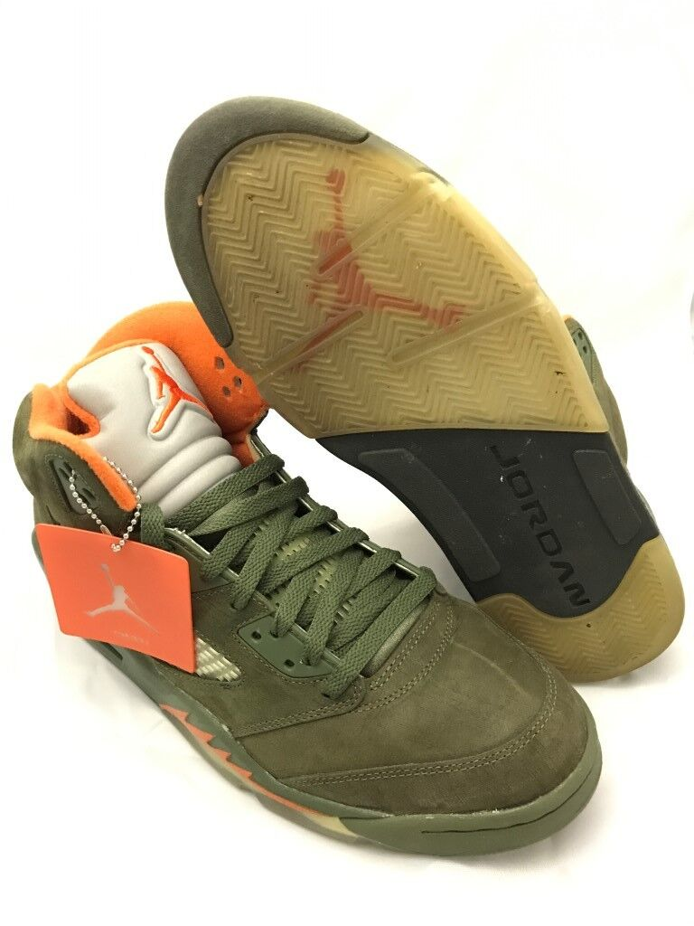 USED Nike Air Jordan V Price reduction Retro LS Army Olive 2018 Comfortable Cheap women's shoes women's shoes