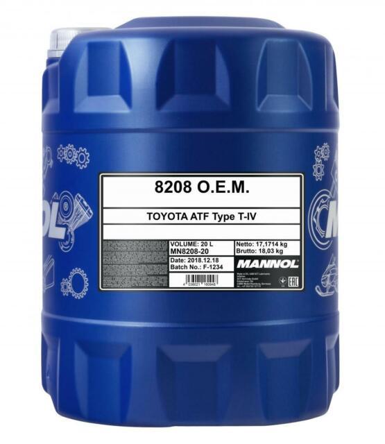 Mannol O.E.M. for Toyota Lexus (ATF Type T-IV) Automatic Transmission Fluid 20L