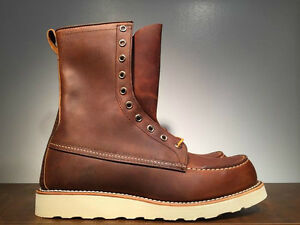 RED WING  8-INCH BOOT STYLE 8830 COPPER ROUGH & TOUGH MADE IN THE USA