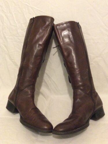 pelle marrone taglia al da in donna 40 ginocchio Stivali 0XYx7