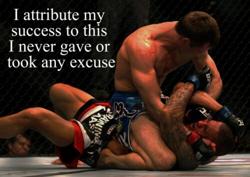 6 Mixed Martial Arts Picture Inspirational Boxing Quote Motivation Sports Poster