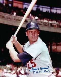 Frank-Howard-Signed-8X10-Photo-034-1960-NL-ROY-034-Autograph-Dodgers-Helmet-Auto-COA