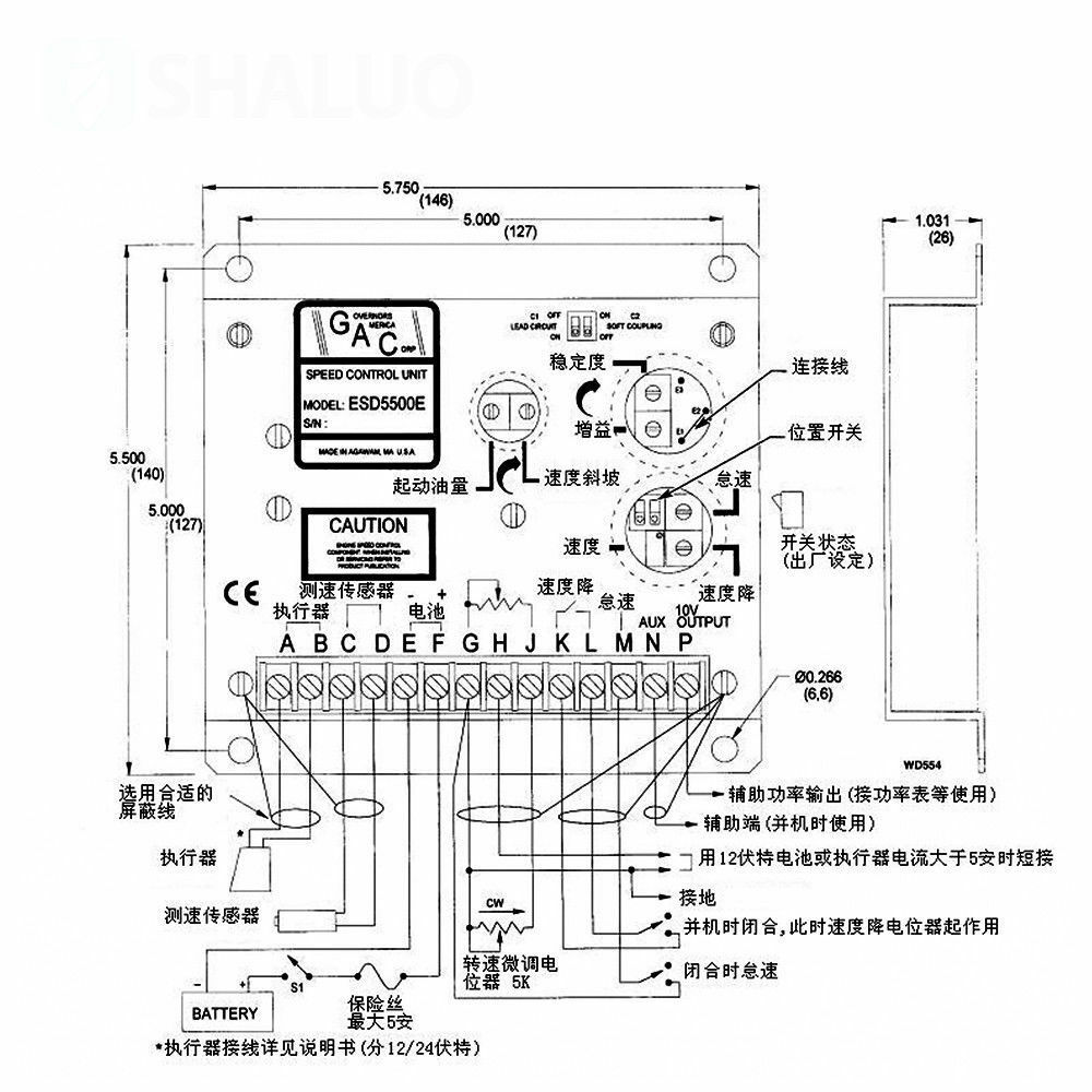 Gac Cummins Speed Control Board Esd5500e Governor Diesel Engine Pb30 Wiring Diagram Generator Ebay