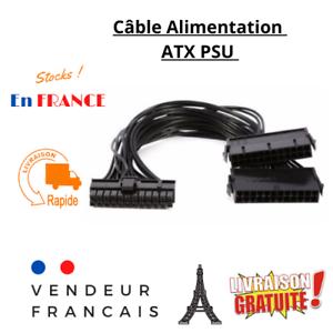 Câble connecteur  Alimentation PSU ATX 24 pin ( 20 + 4pin )  Mâle vers Femelle