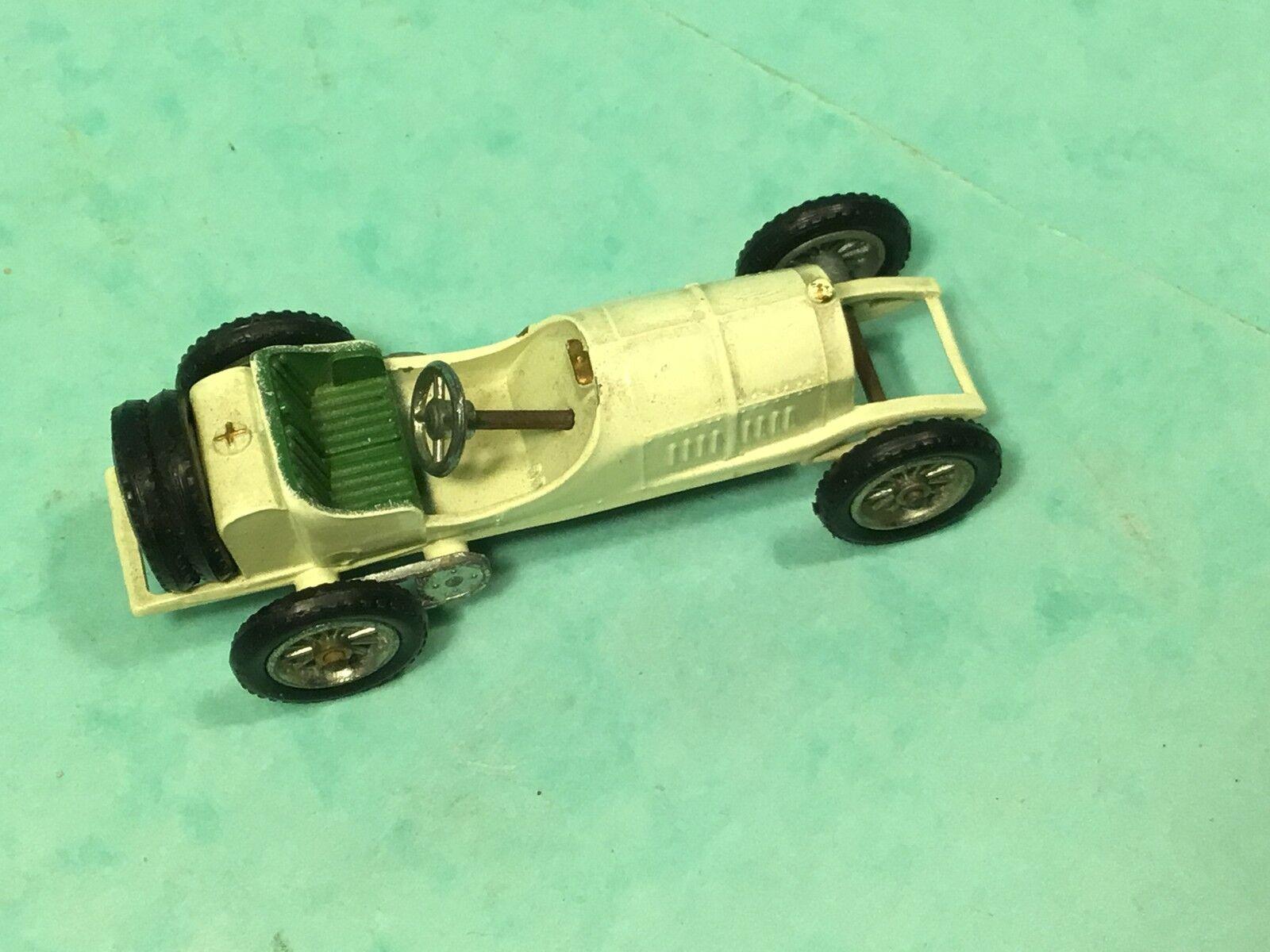 Lesney matchbox rare No10 1908 GP Mercedes NO Box,racing car light cream classic