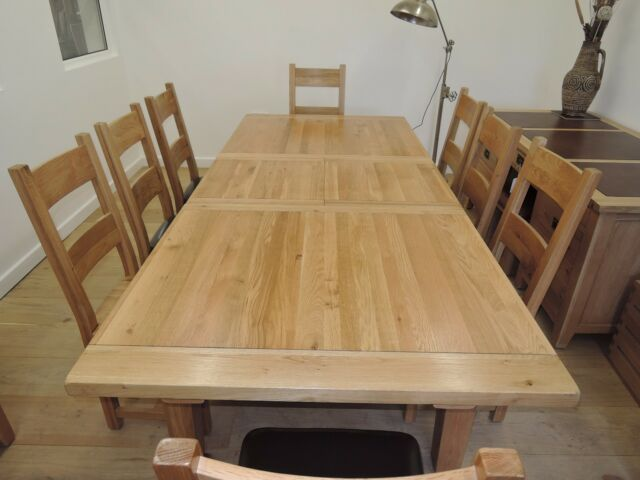 Vancouver Premium Large Solid Reclaimed Oak Table 193cm To 254cm Vxd001