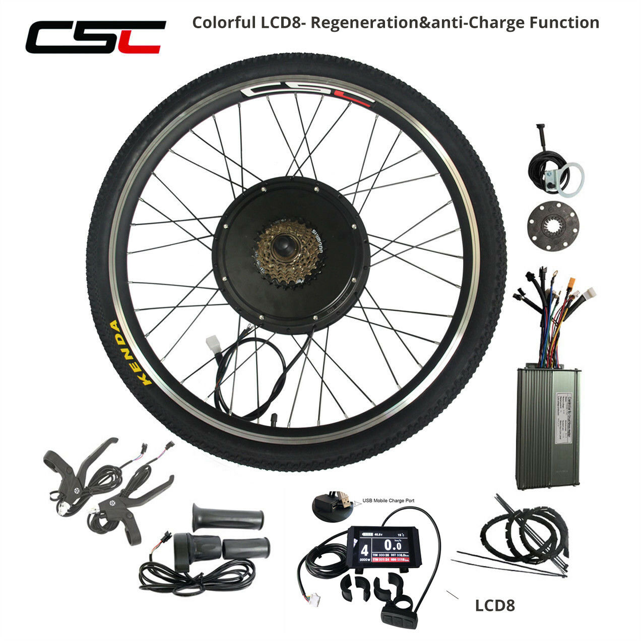 48V 1000W 1500W Rear Wheel Motor Conversion Kit  26  28  27.5  colorful LCD8