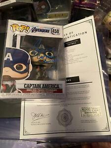 Funko Pop! Signed Avengers Chris Evans - Captain America Autographed Pop w COA