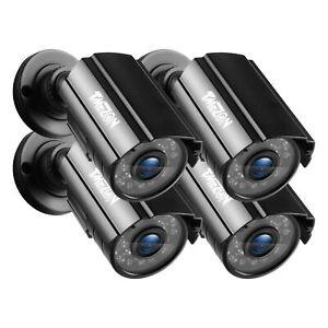 TMEZON 4 PCS 1080P Home Outdoor CCTV Camera IR Night Bullet 24 leds Security Kit