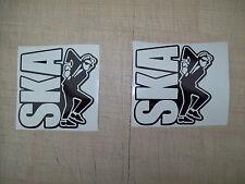 ( 2 ) SKA MAN SCOOTER FUN,CAR,BIKE,VAN LEG SHIELD BUMPER Decals Stickers