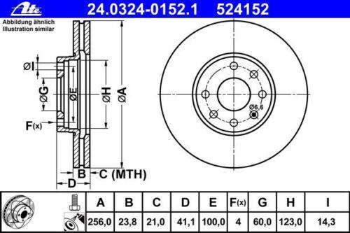 ATE POWERDISC BREMSSCHEIBEN Ø256mm+CERAMIC BELÄGE VORNE ALLE OPEL ASTRA G