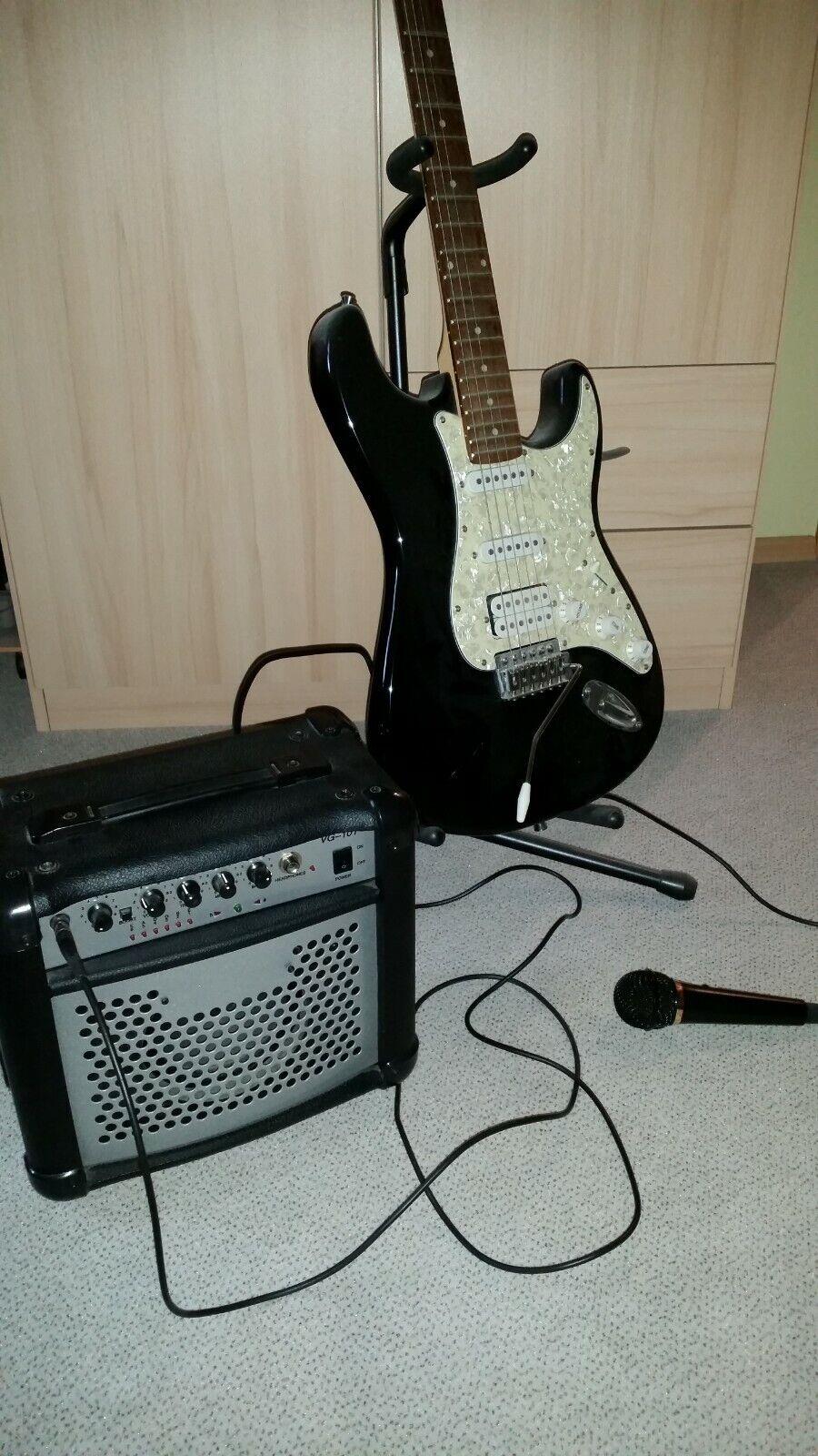 Westone E-Gitarre + Amp + Mikrofon