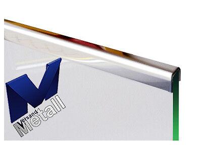 Edelstahl Einfassprofil 2 für 10 mm Glas 1,0mm 1.4301 IIID spiegelnd.