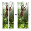 3D Self Adhesive Green Jungle Monkey Door Sticker Wall Art Decor Mural Wallpaper