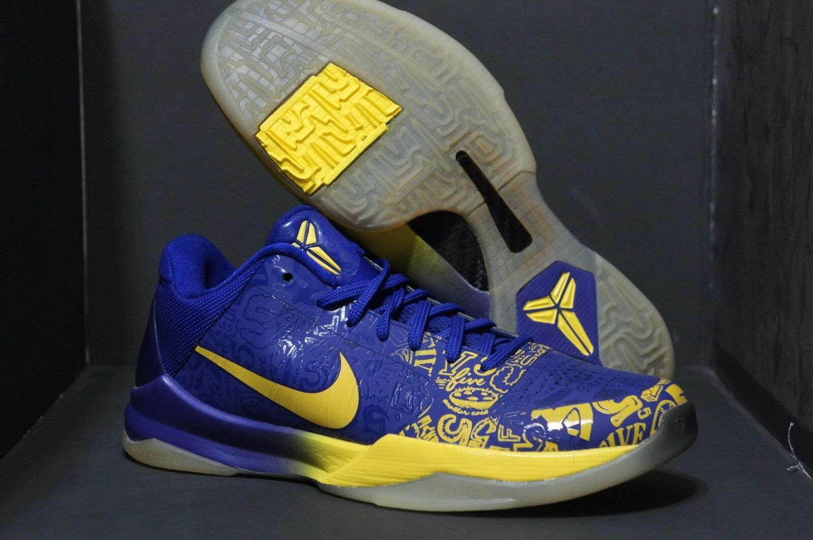 Promo Nike Zoom Kobe V 8 5 Rings Ceremony sz 8 V Purple Yellow 386429-702 MVP 2c43fb