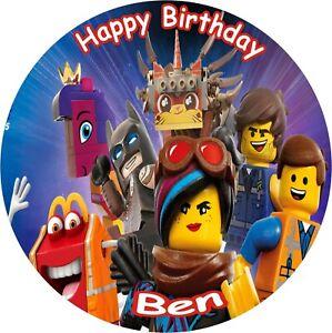 Superb Lego Movie 2 8 Birthday Icing Cake Topper Ebay Birthday Cards Printable Trancafe Filternl