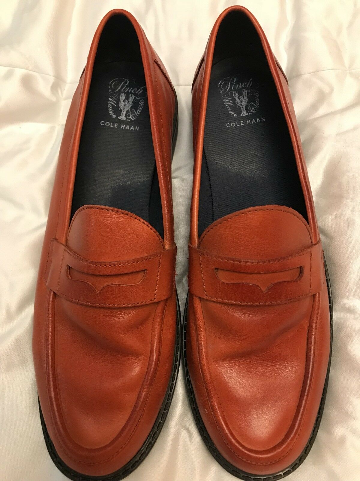 Cole Haan Pinch Marine Classics ROT Penny Loafers Damens's Weekender