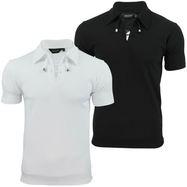 Mens Polo Shirt by Xact Clothing Short Sleeved Muscle Slim Gym Fit