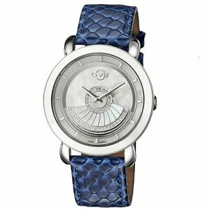 Gv2-By-Gevril-Women-039-s-3603-Catania-Diamonds-MOP-Dial-Leather-Wristwatch