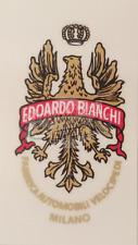 DECALCOMANIA BIANCHI CANOTTO- DECALQUE TRASFERT BIANCHI- TRASFER BIANCHI