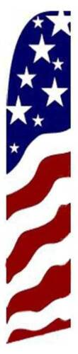 USA New Glory Flutter Swooper Advertising Sign 2.5' Wide Banner Flag Only