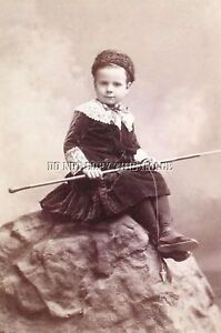Antique repro 8x10 fishing photograph little girl rod with for Little girl fishing pole