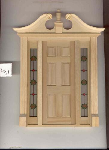 Simulated Stain Glass #SLIM18 dollhouse miniature door