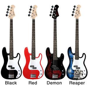 jaxville rockburn pb bass electric guitar packages amp lead beginner starter ebay. Black Bedroom Furniture Sets. Home Design Ideas