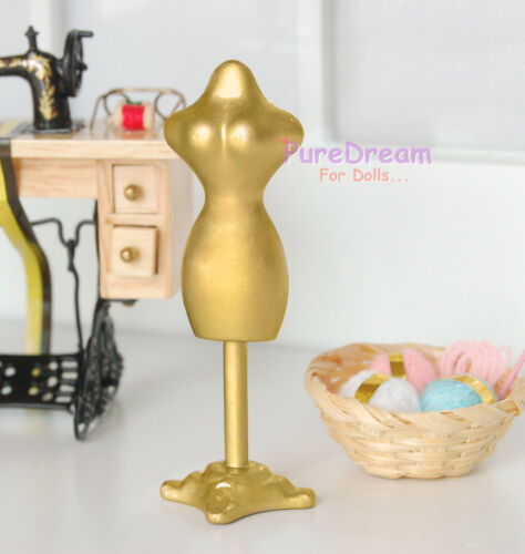 Dollhouse Miniature Mannequin Model Gold Made Of Metal HS008E