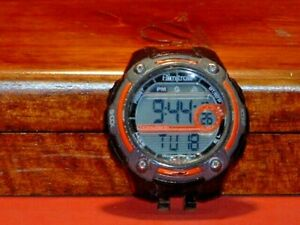 Pre-Owned-Men-s-Black-amp-Orange-Armitron-Shock-40-8189-Digital-Watch-Module