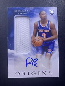 RJ Barrett 2019-20 Origins RPA #163 New York Knicks Rookie Patch Auto RC #2