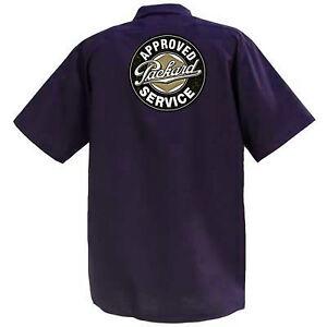 Servizio-autorizzato-Packard-MECCANICA-Graphic-Work-Shirt-a-Manica-Corta