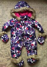 8704df086fd4 Auth Diesel Girls Baby Snowsuit One-piece Purple Camo Print Floral ...