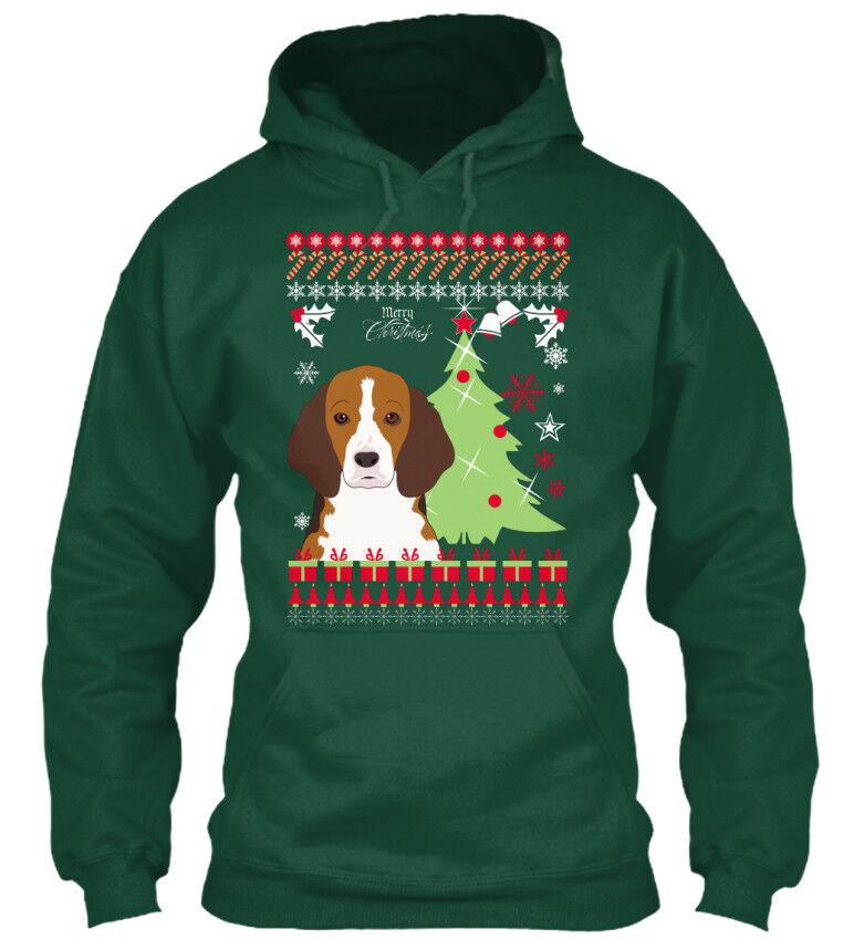 In style Beagle Beagle Beagle Ugly Christmas Sweater Standard College Standard College Hoodie | Züchtungen Eingeführt Werden Eine Nach Der Anderen  | Angenehmes Gefühl  c27bf5