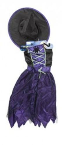 Age 7-9 Girls Fancy Dress Childs Halloween Kids Costume Spider Witch Princess